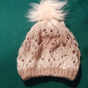 BETSEY JOHNSON NWOT hat with pompom